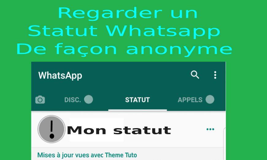 Comment voir un statut WhatsApp sans être vu iPhone ?