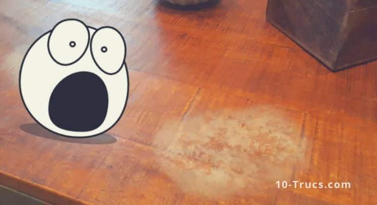 Comment enlever des auréoles sur une table en bois ?